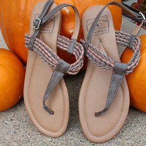 Lucky Brand Thong Flip Flops with Braided Strap